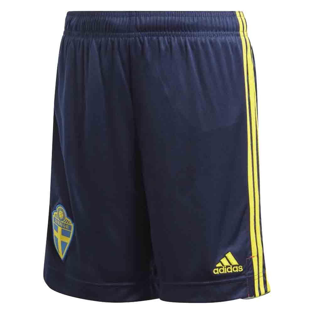 2020-2021 Sweden Home Adidas Football Shorts (Kids)