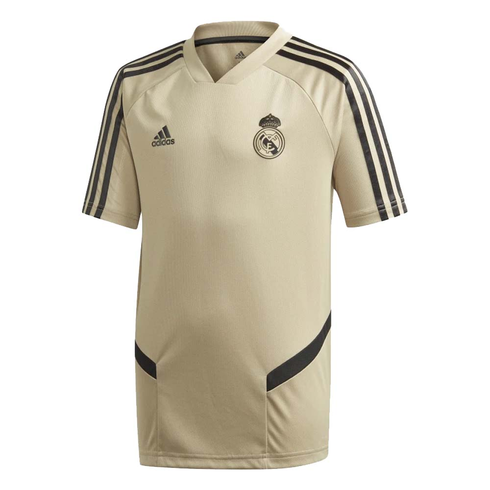 2019 2020 Real Madrid Adidas Training Shirt Gold Kids Ei7466 Uksoccershop