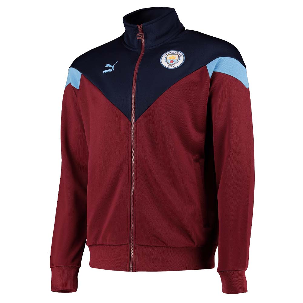 2019-2020 manchester city puma iconic mcs track jacket (cordov