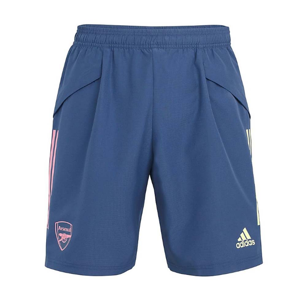 2020-2021 Arsenal Adidas Woven Down Time Shorts (Indigo)