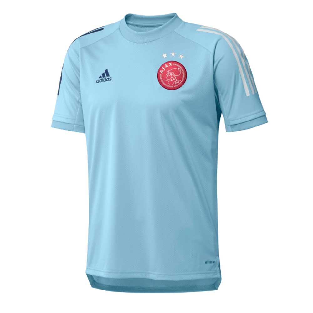 2020 2021 Ajax Adidas Training Shirt Ice Blue Fi5195 Uksoccershop