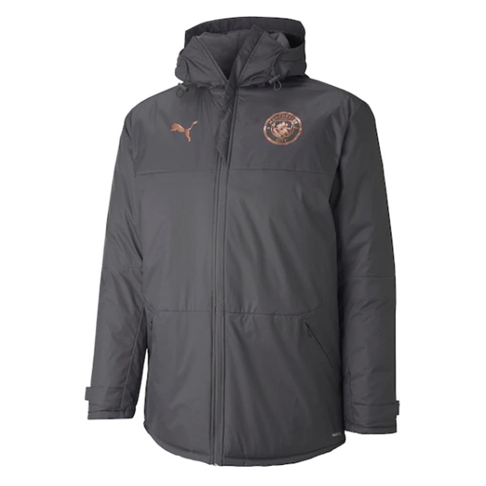2020-2021 Manchester City Puma Winter Jacket (Asphalt)