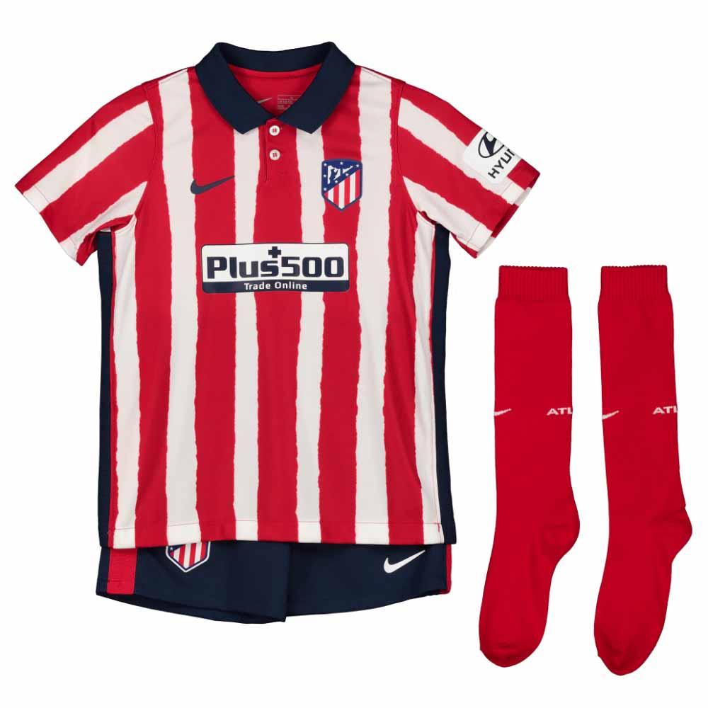 2020-2021 Atletico Madrid Home Nike Little Boys Mini Kit