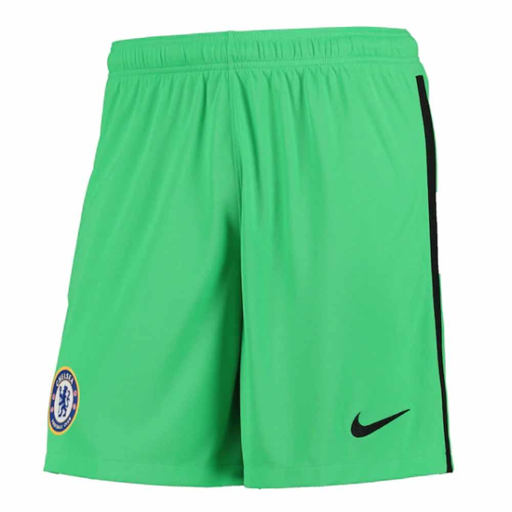 2020-2021 Chelsea Home Nike Goalkeeper Shorts (Green)
