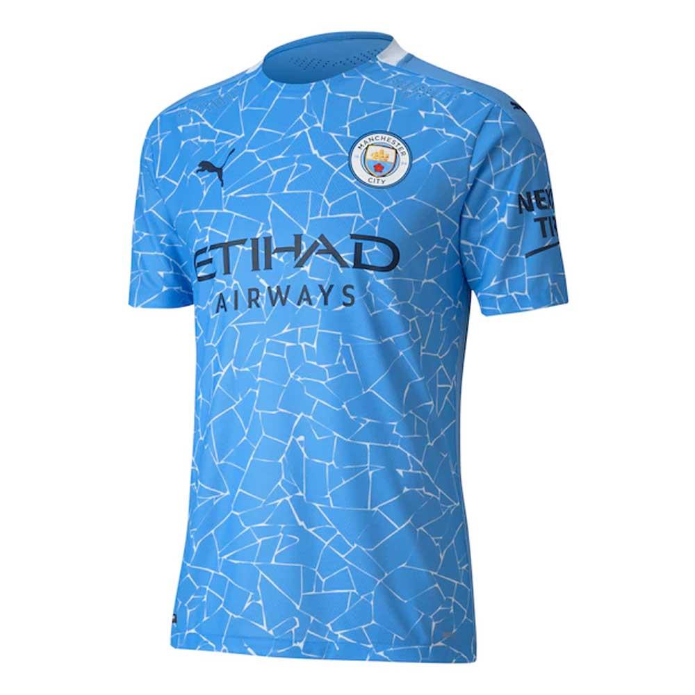 2020-2021 Manchester City Puma Home Authentic Football Shirt