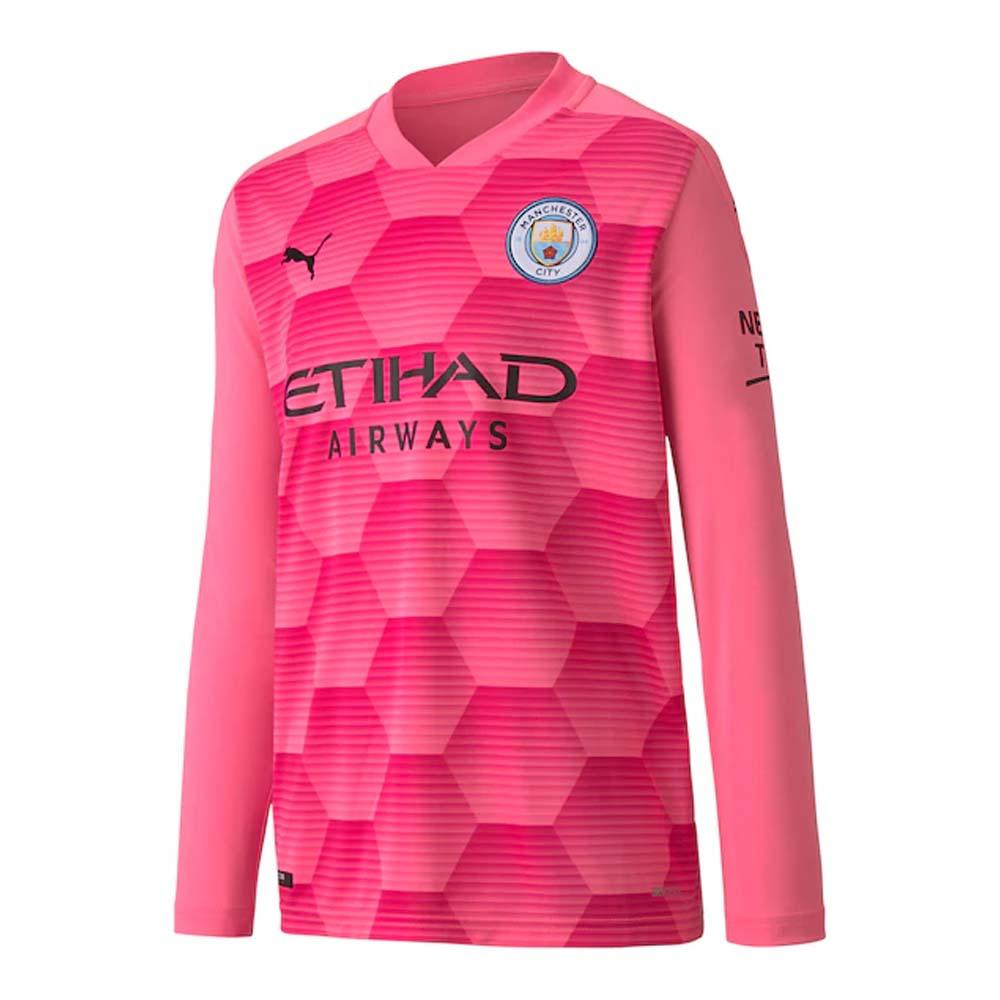 2020 2021 Man City Away Goalkeeper Shirt Pink Kids 75710322 Uksoccershop