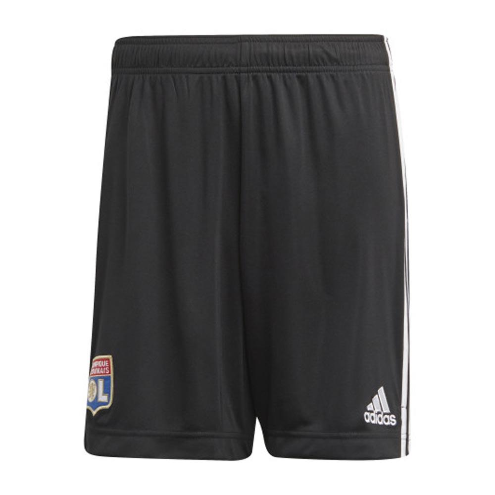2020-2021 Olympique Lyon Adidas Away Shorts (Black)