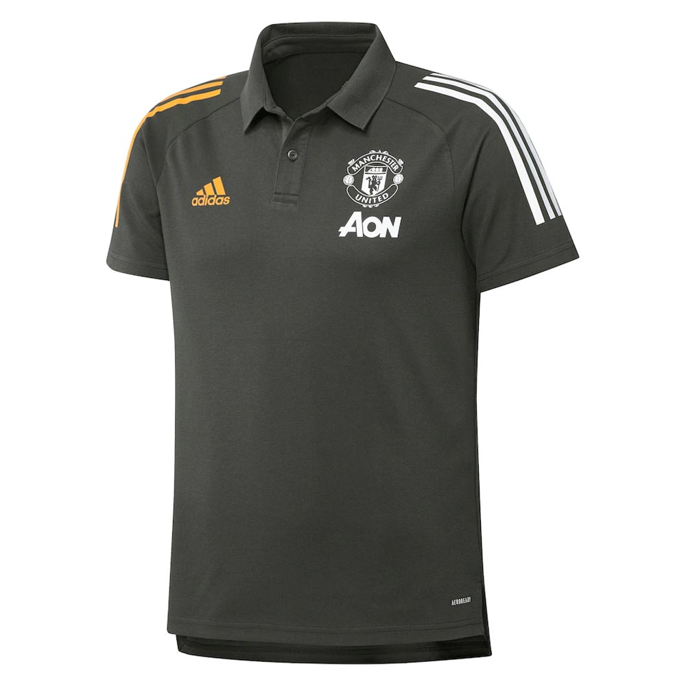 2020 2021 Man Utd Adidas Training Polo Shirt Green Fr3652 Uksoccershop