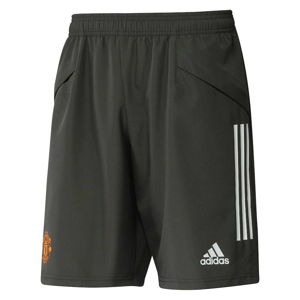 2020-2021 Man Utd Adidas Down Time Shorts (Green)