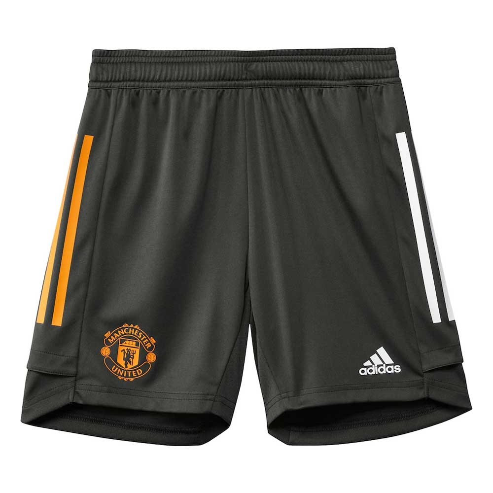 2020-2021 Man Utd Adidas Training Shorts (Green) - Kids