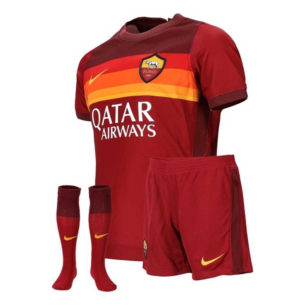 2020-2021 AS Roma Home Nike Little Boys Mini Kit