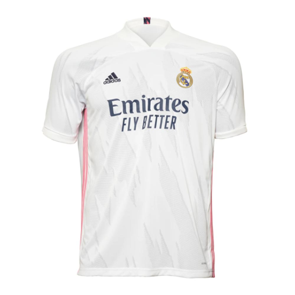 2020-2021 Real Madrid Adidas Home Football Shirt Adidas