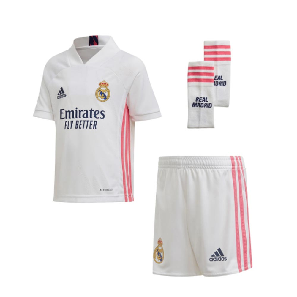 2020 2021 Real Madrid Adidas Home Full Kit Kids Fq7489 Uksoccershop