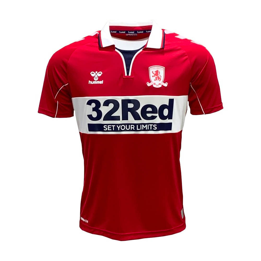 Middlesbrough FC Football Shirt Home Top Soccer Jersey 2018//2019 Hummel Size:2XL