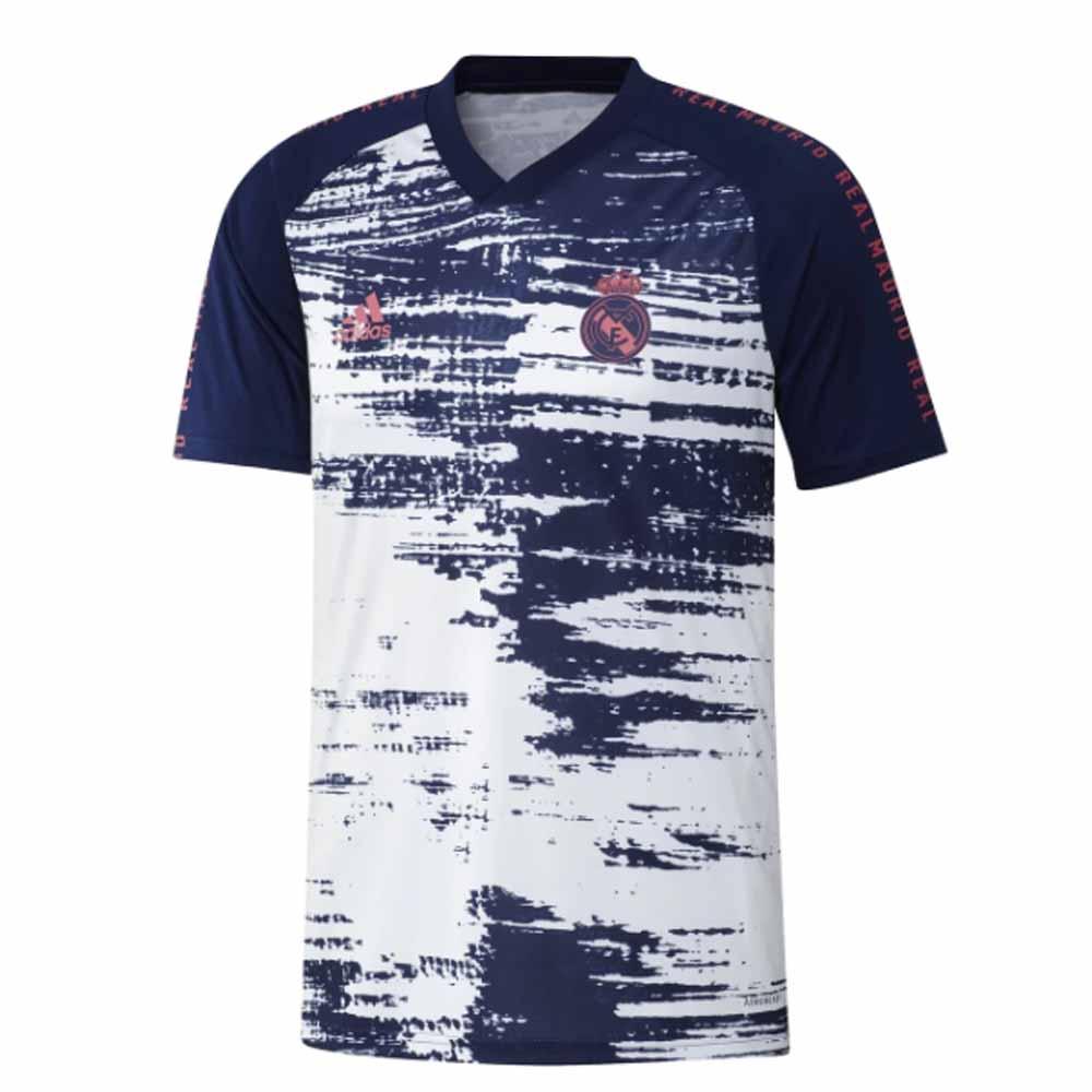 2020-2021 Real Madrid Adidas Pre-Match Training Shirt (White)