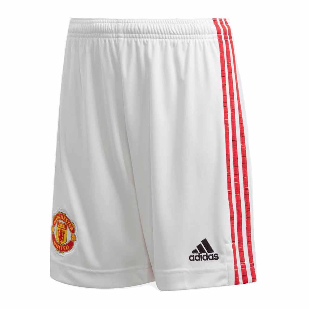 2020-2021 Man Utd Adidas Home Shorts White (Kids)