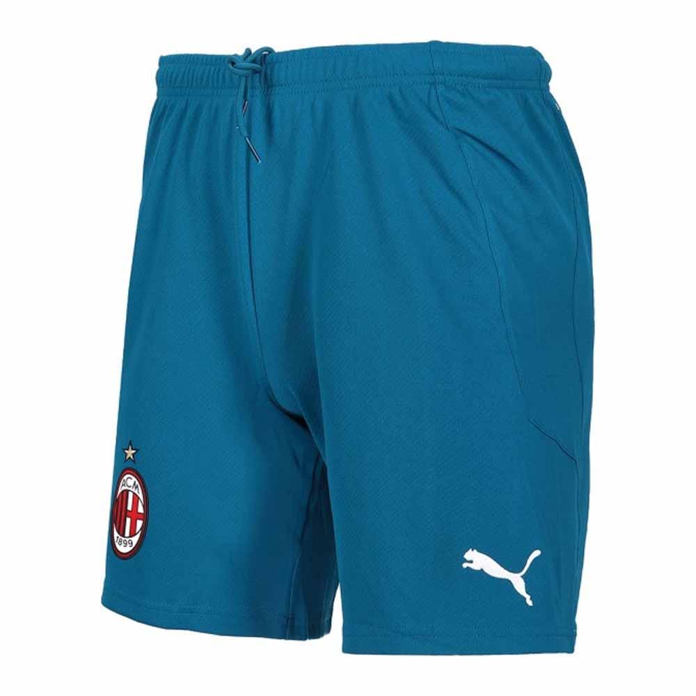 2020-2021 AC Milan Puma Third Shorts Blue (Kids)