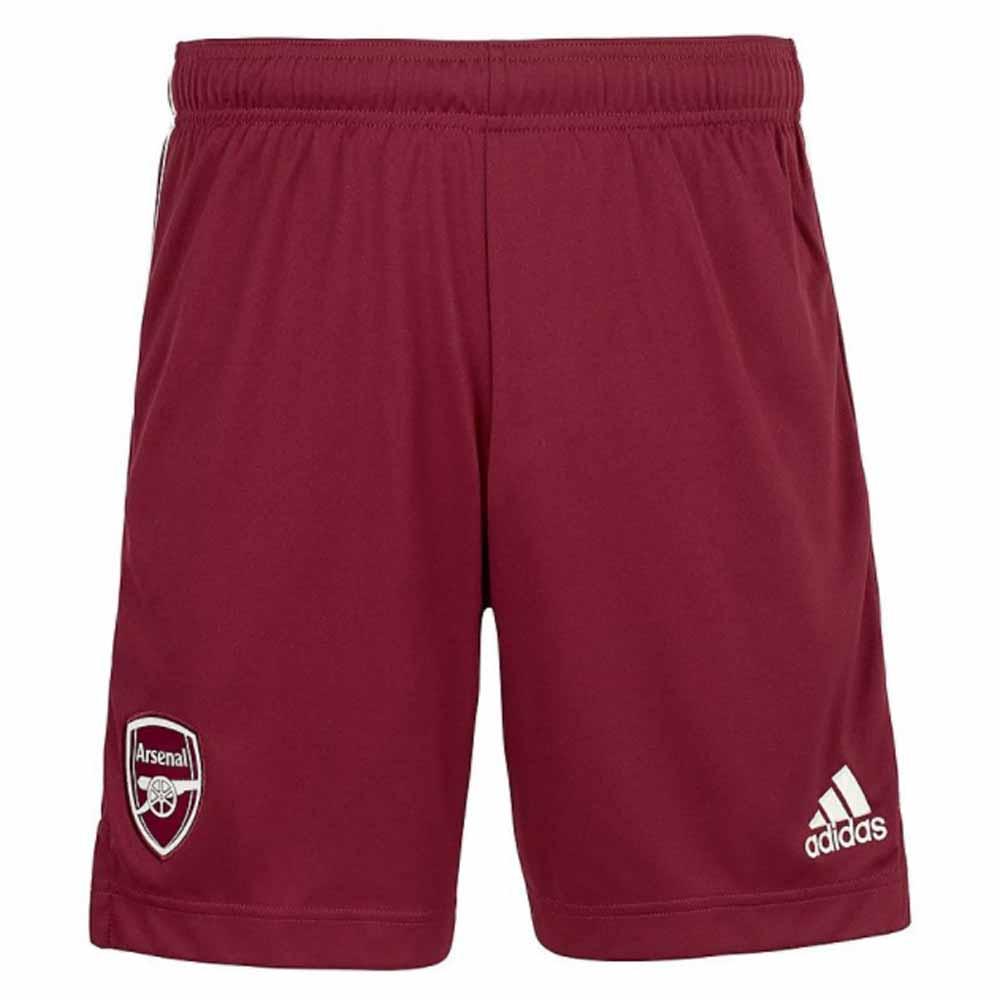 2020-2021 Arsenal Adidas Away Shorts Maroon (Kids)