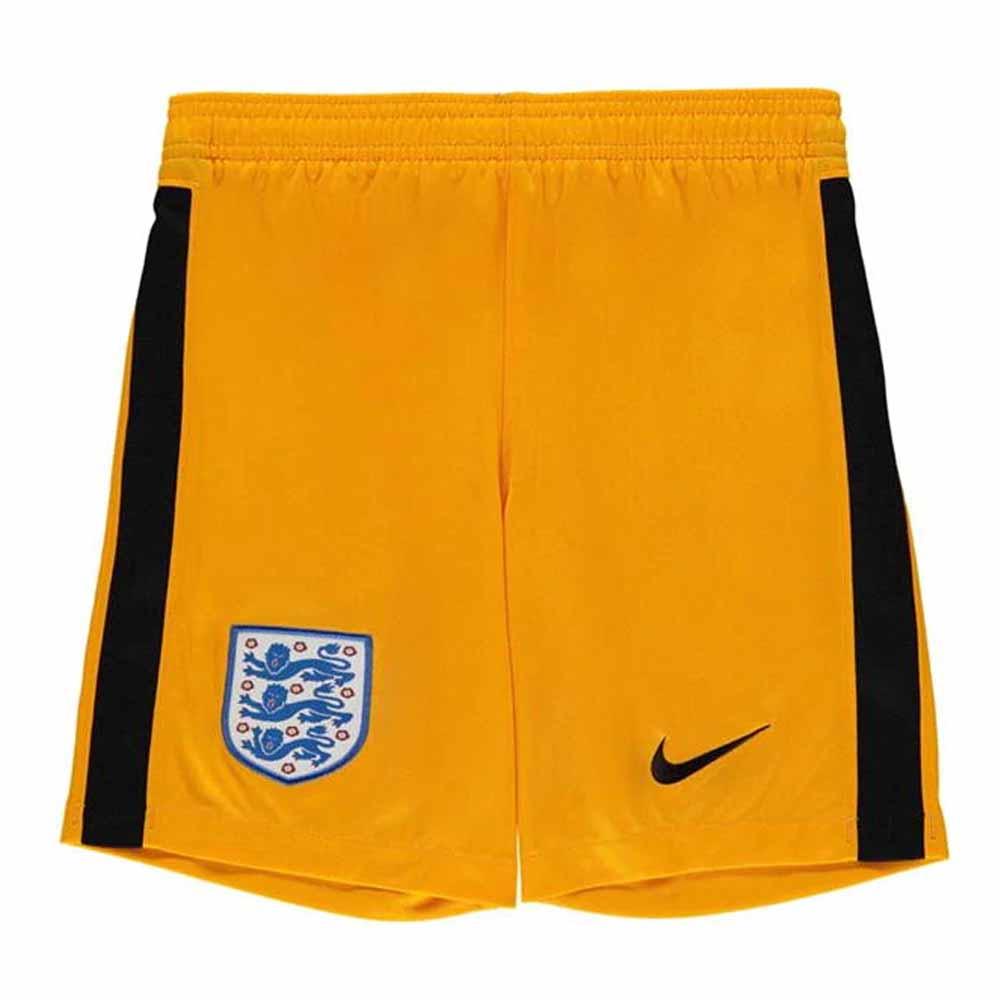 2020-2021 England Nike Goalkeeper Shorts (Yellow) - Kids