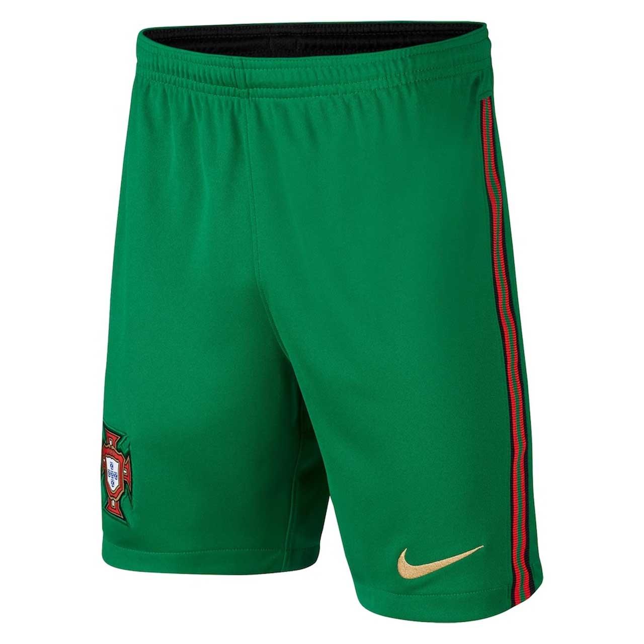 2020-2021 Portugal Nike Home Shorts (Green) - Kids