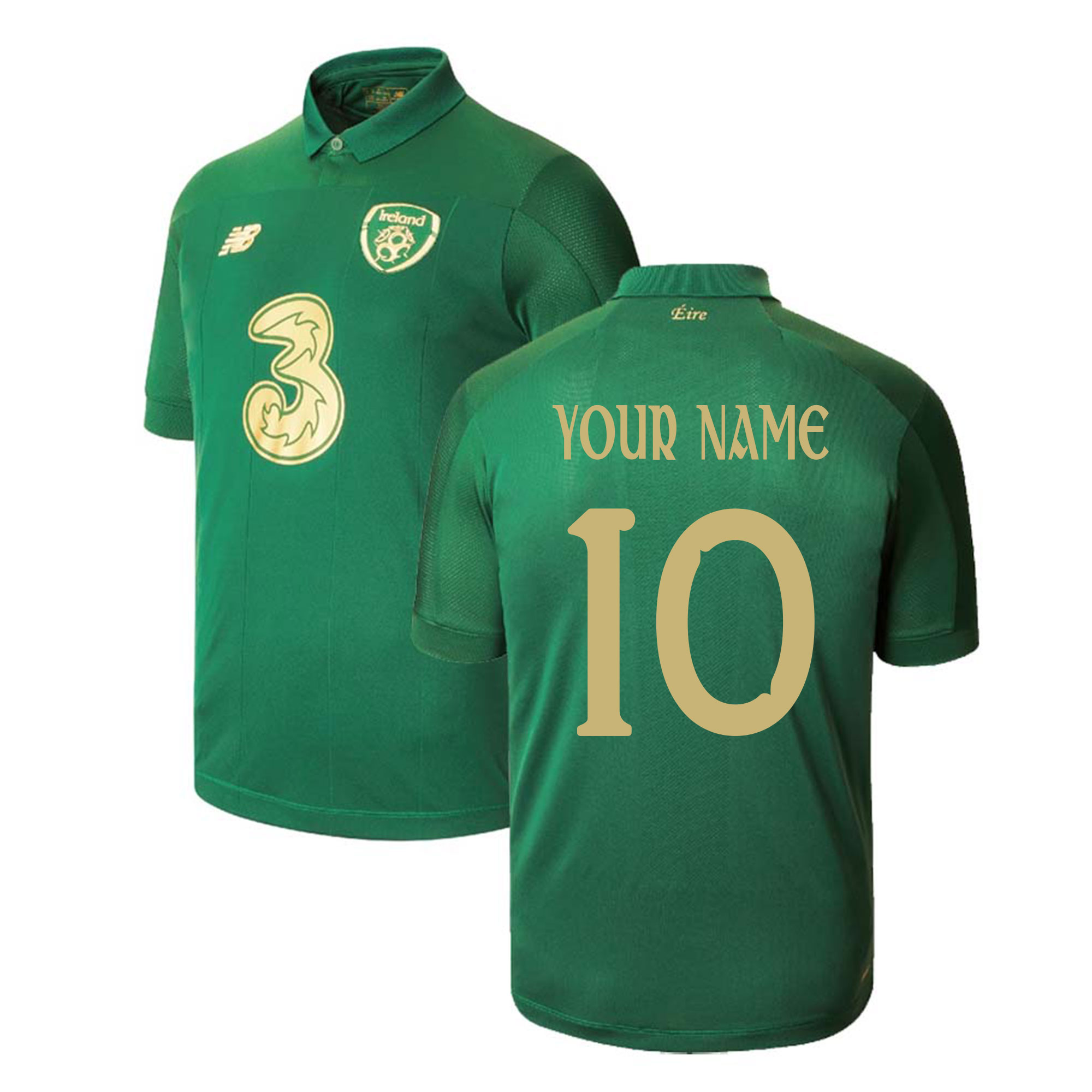 2020-2021 Ireland Home New Balance Football Shirt (Kids) (Your Name)