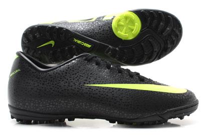 Football Boots Mercurial Victory II TF CR7 Safari Football Trainers Black/Volt/
