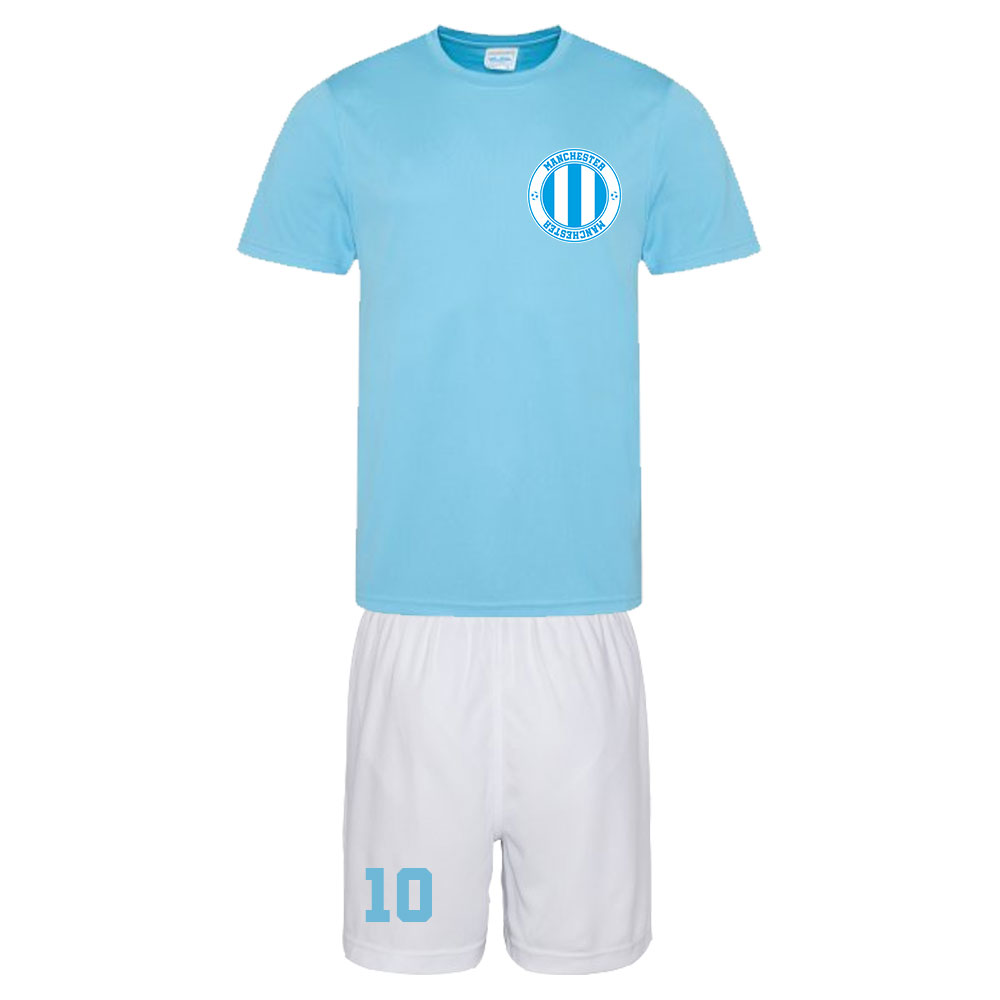 personalised city of manchester training kit