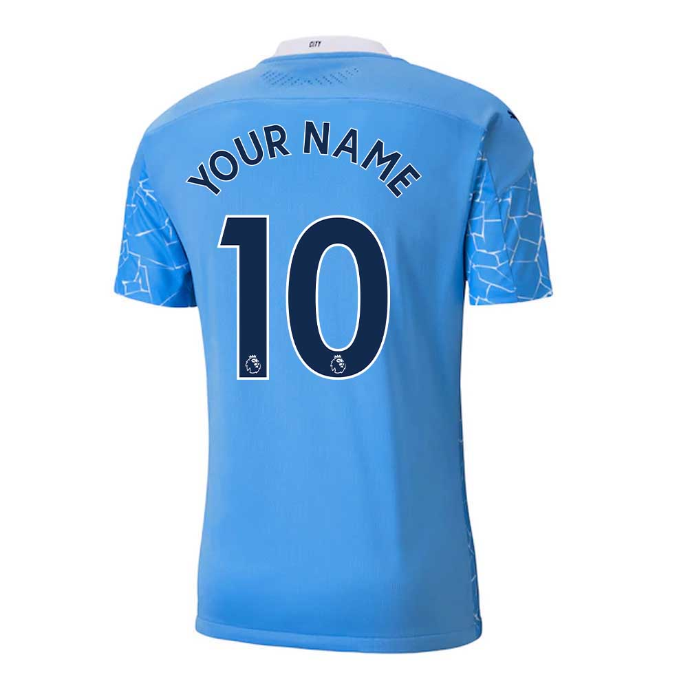 2020-2021 Manchester City Puma Home Authentic Football Shirt (Your Name)