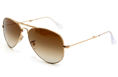 Ray-Ban 3479 001/51 Gold Folding Aviator Sunglasses