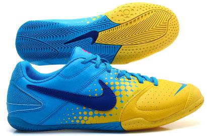 Nike5 Elastico Kids IC Indoor Football Trainers Blue GlowOld RoyalChrome Yellow