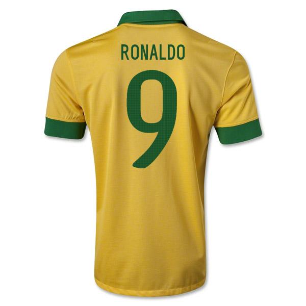 new style 34e37 cf87e 2013-14 Brazil Home Shirt (Ronaldo 9)