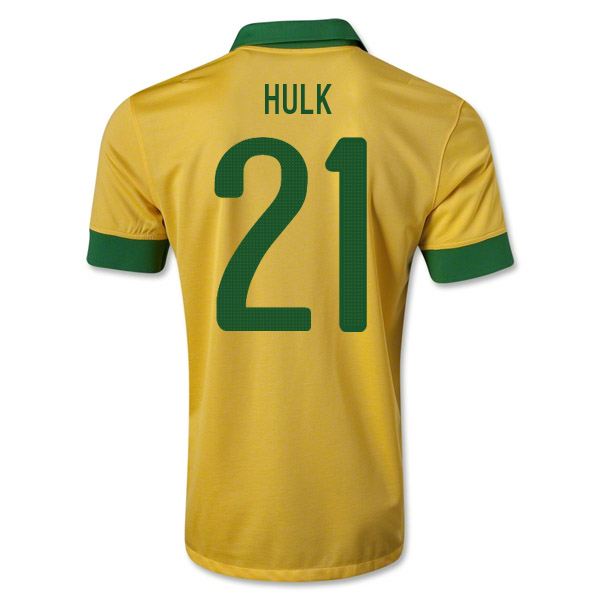 finest selection 2daef 9bf09 2013-14 Brazil Home Shirt (Hulk 21)