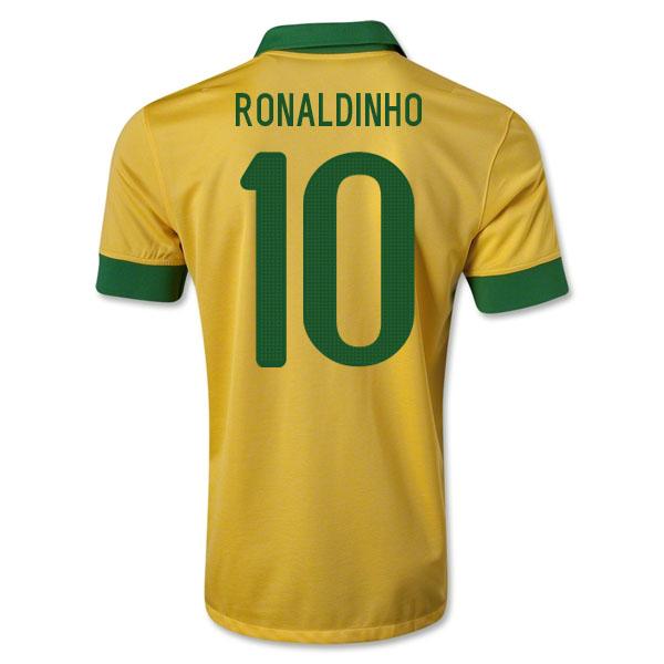 4a6a8f52c 2013-14 Brazil Home Shirt (Ronaldinho 10) - Kids  519871-29462  -  Uksoccershop