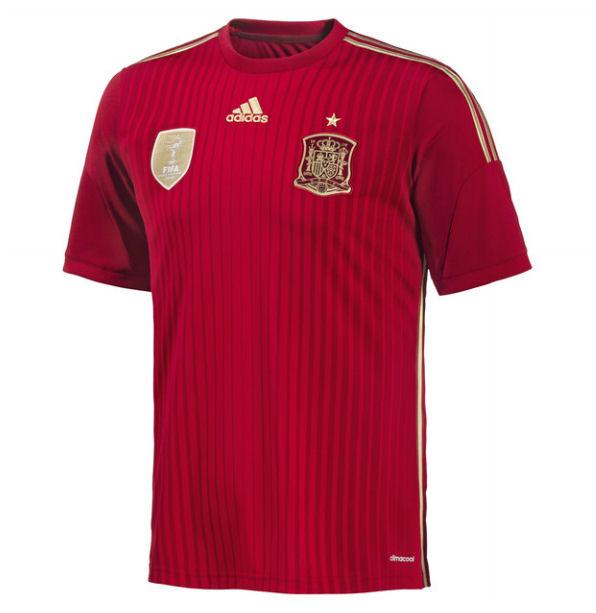 2014 15 spain home world cup football shirt kids g85231 for Spain polo shirt 2014