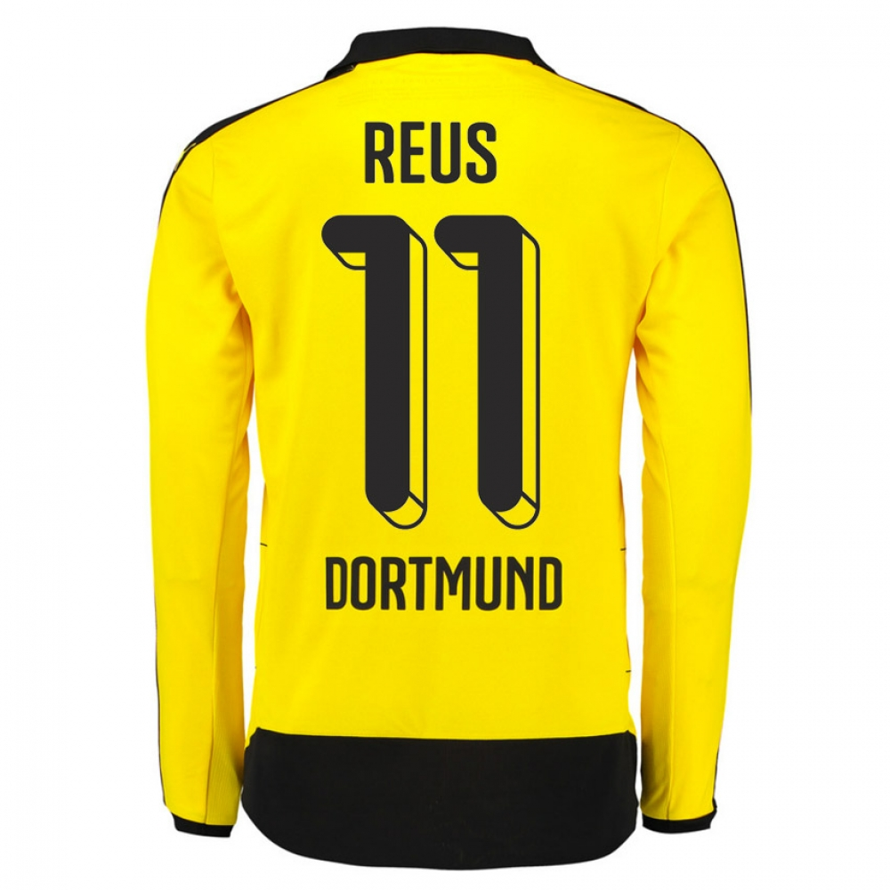 2015 16 dortmund home long sleeve shirt your name best. Black Bedroom Furniture Sets. Home Design Ideas