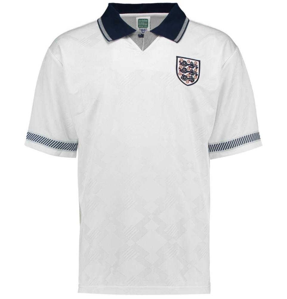58a40b65351 Score Draw England 1990 Home Shirt [ENG90HPYSS] - Uksoccershop