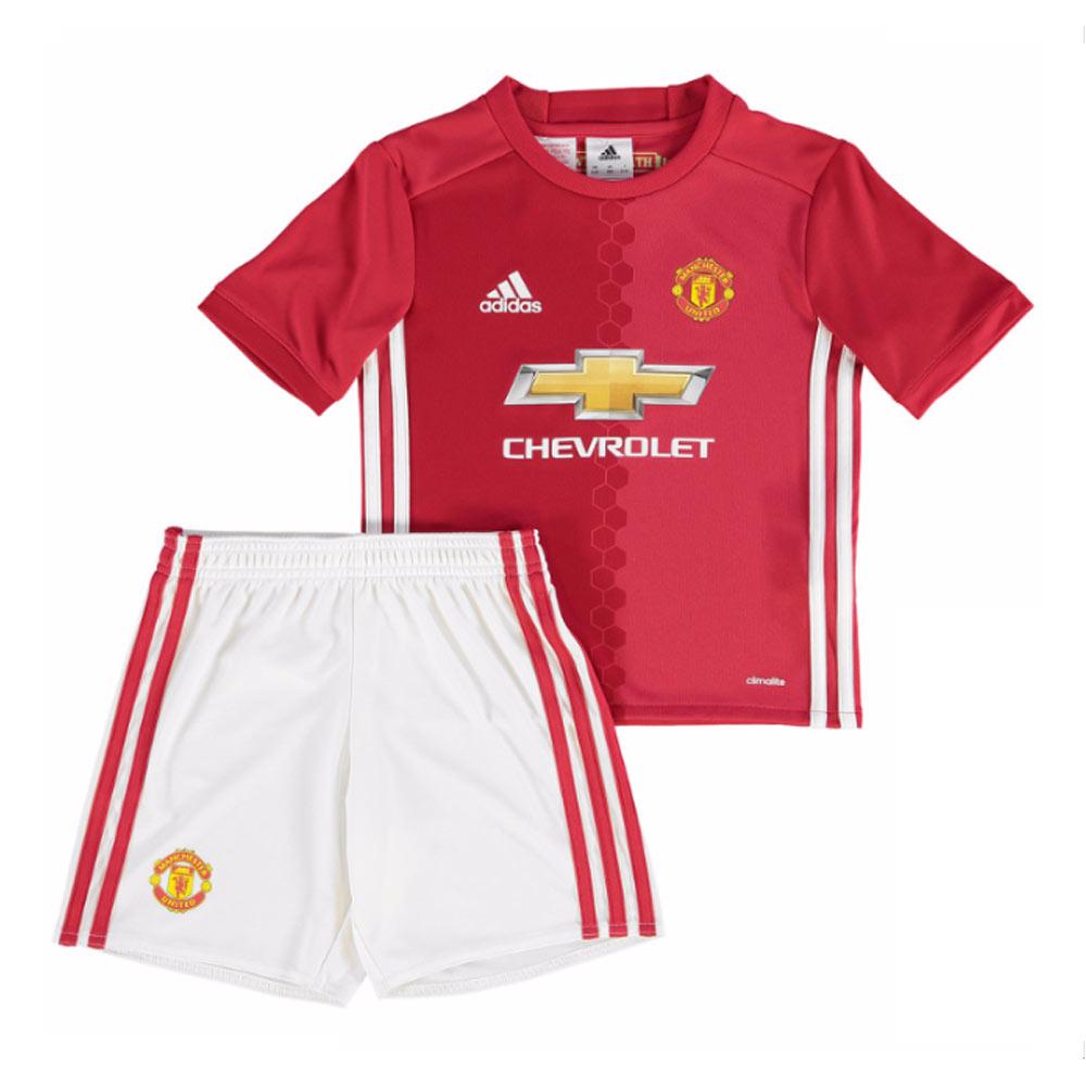 eda4cd078 2016-2017 Man Utd Adidas Home Little Boys Mini Kit  AI6711  - Uksoccershop