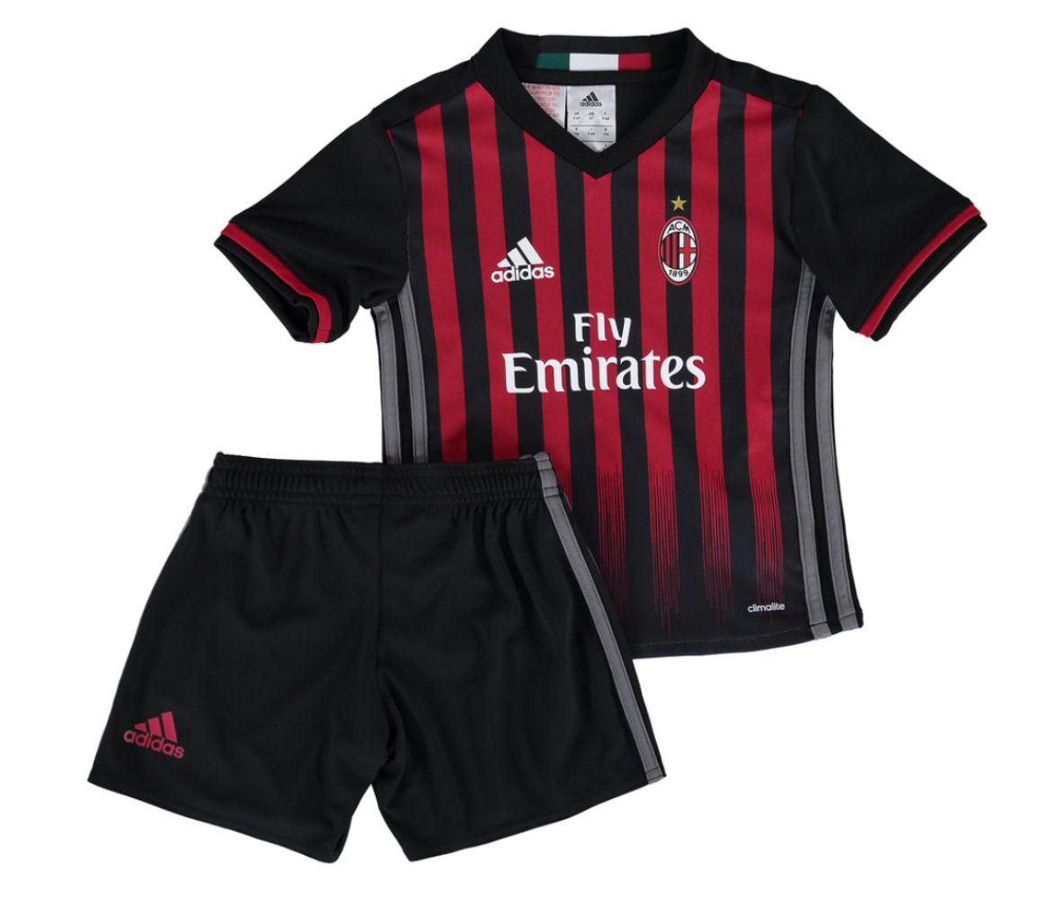 01fc3178b5e 2016-2017 AC Milan Adidas Home Mini Kit  AI6898  - Uksoccershop