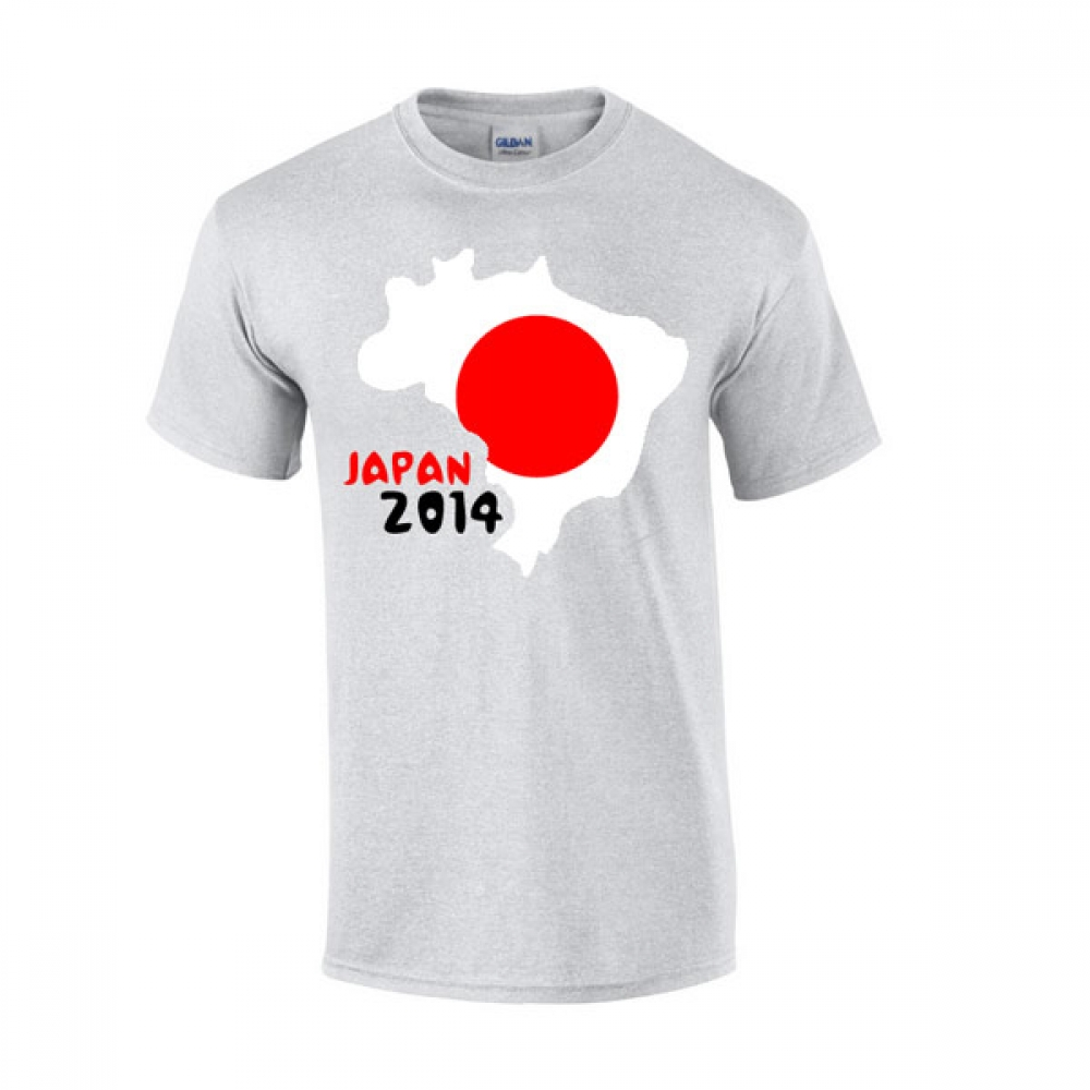 Japan 2014 Country Flag Tshirt (grey)