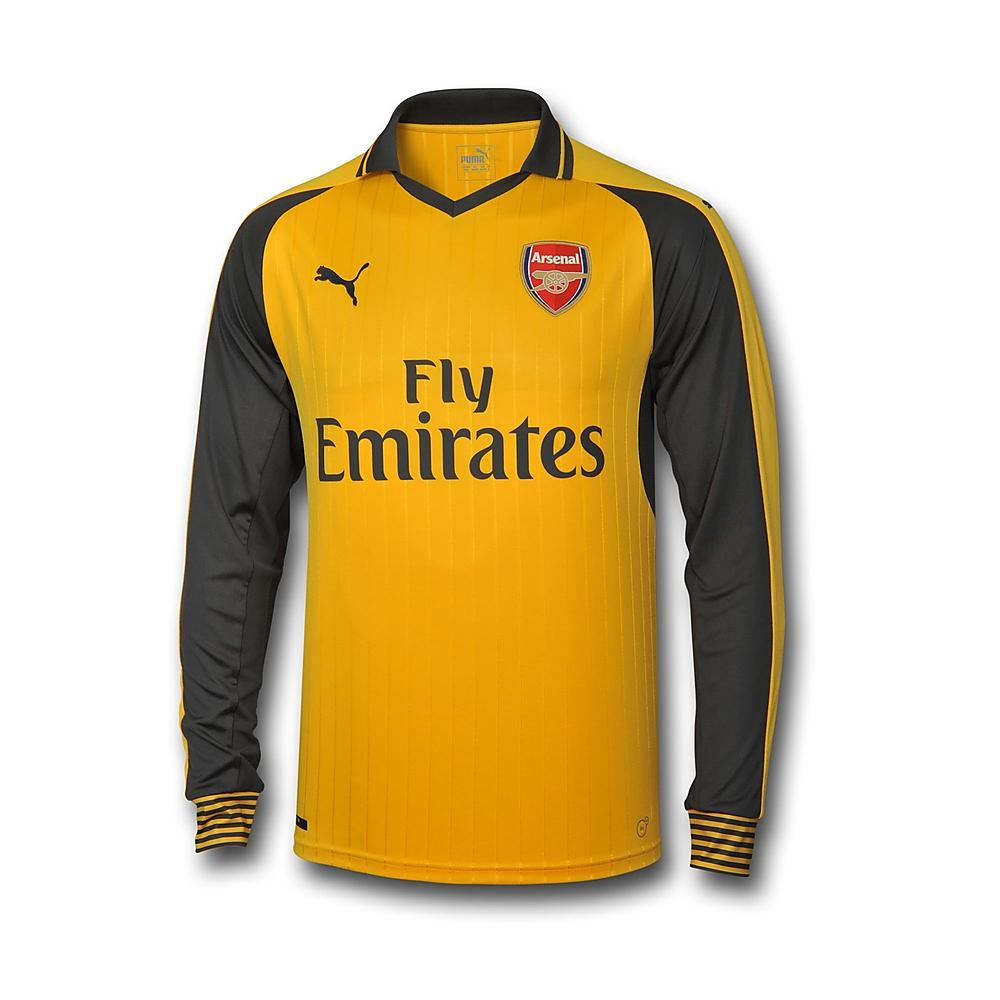 29692c8e5 2016-2017 Arsenal Puma Away Long Sleeve Shirt (Kids)  74972203  -  Uksoccershop
