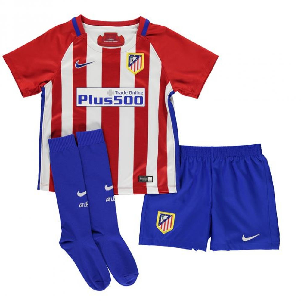 5c3a4d883c3 2016-2017 Atletico Madrid Home Nike Little Boys Mini Kit  808272-649  -  Uksoccershop