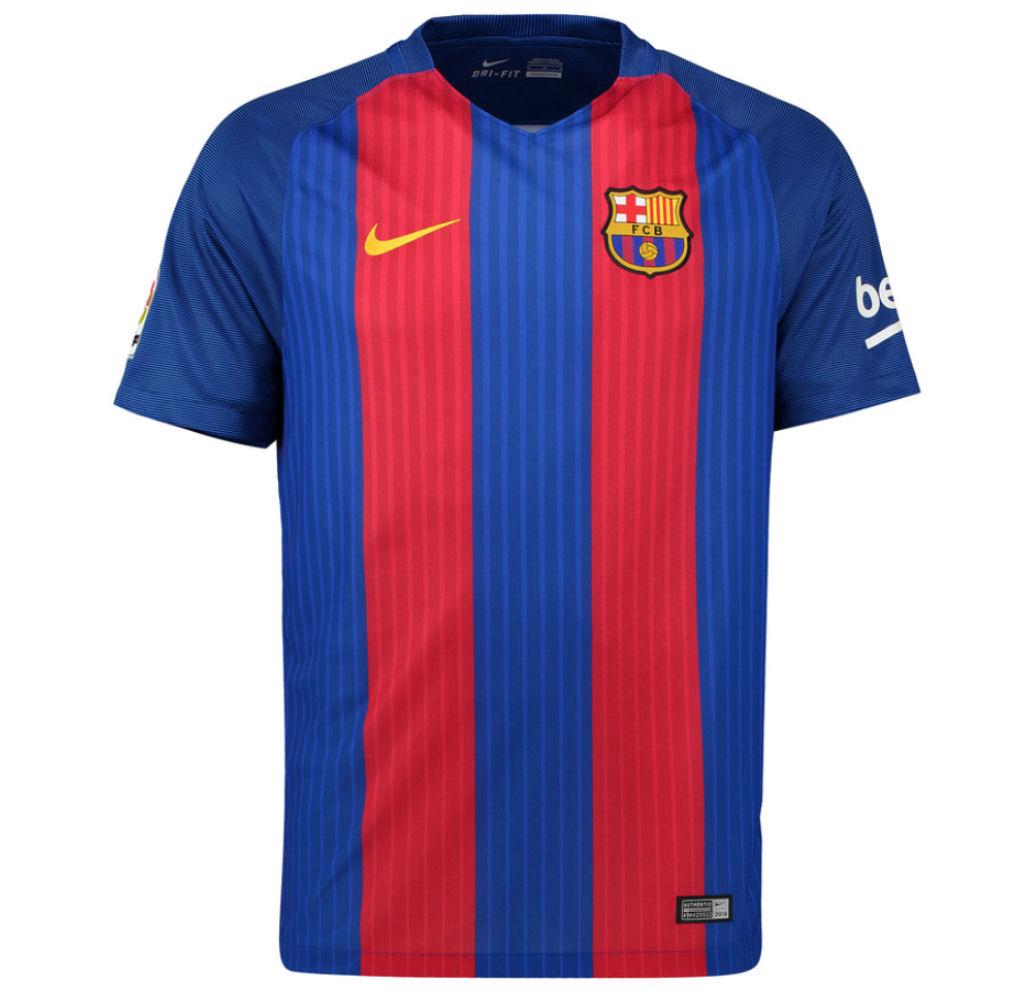 low priced 7f550 b6cbd 2016-2017 Barcelona Home Nike Football Shirt