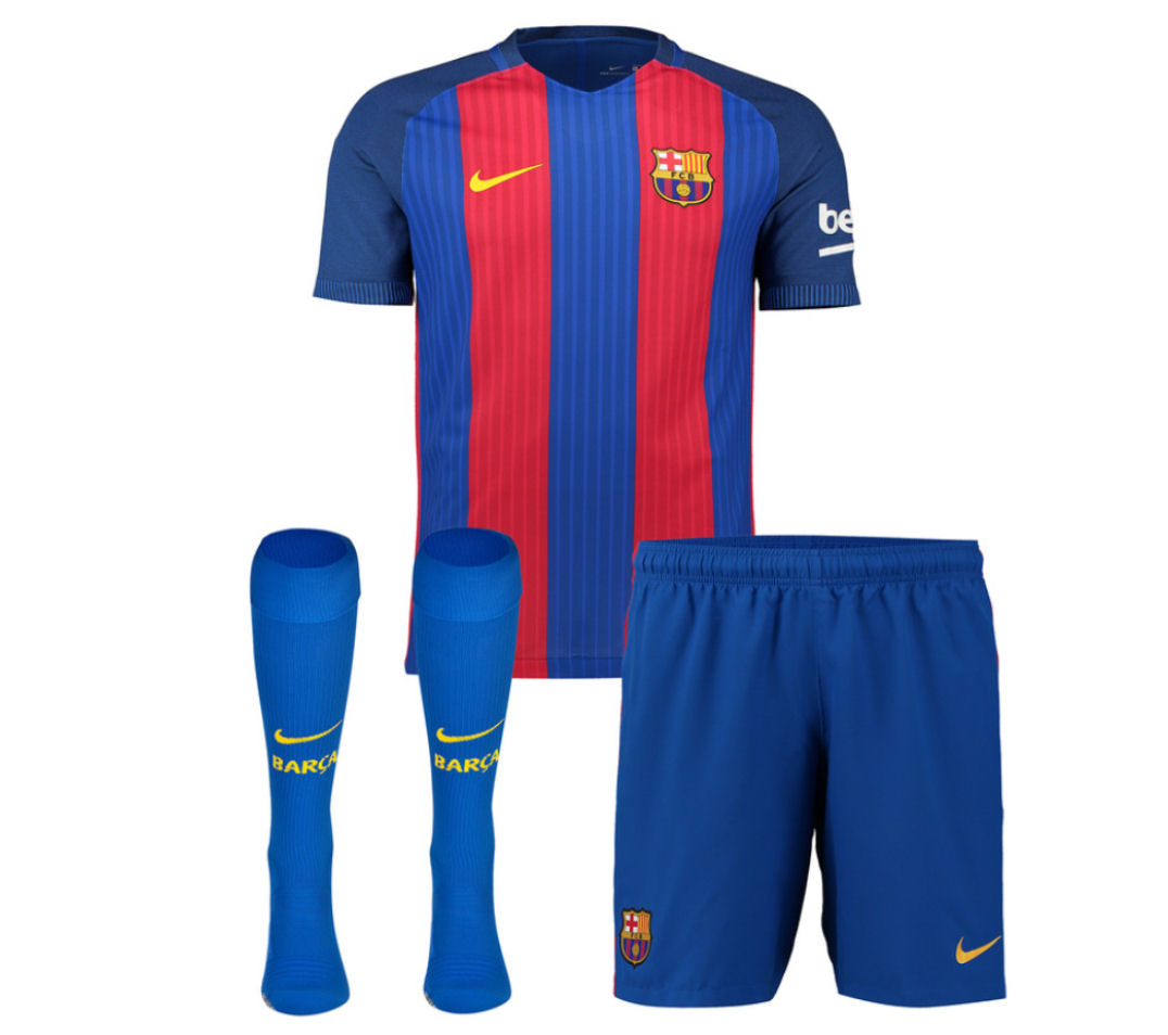968bb54270b 2016-2017 Barcelona Home Nike Little Boys Mini Kit  776733-481  -  Uksoccershop