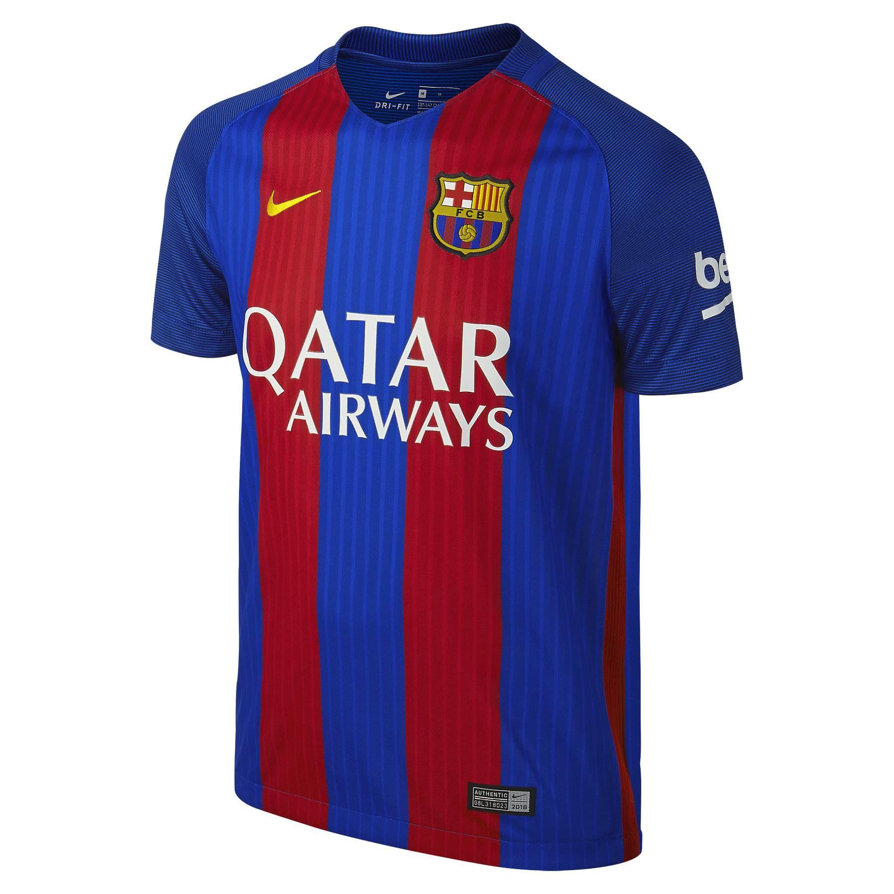 huge selection of 2132e e2846 2016-2017 Barcelona Home Nike Shirt (Kids) - with sponsor