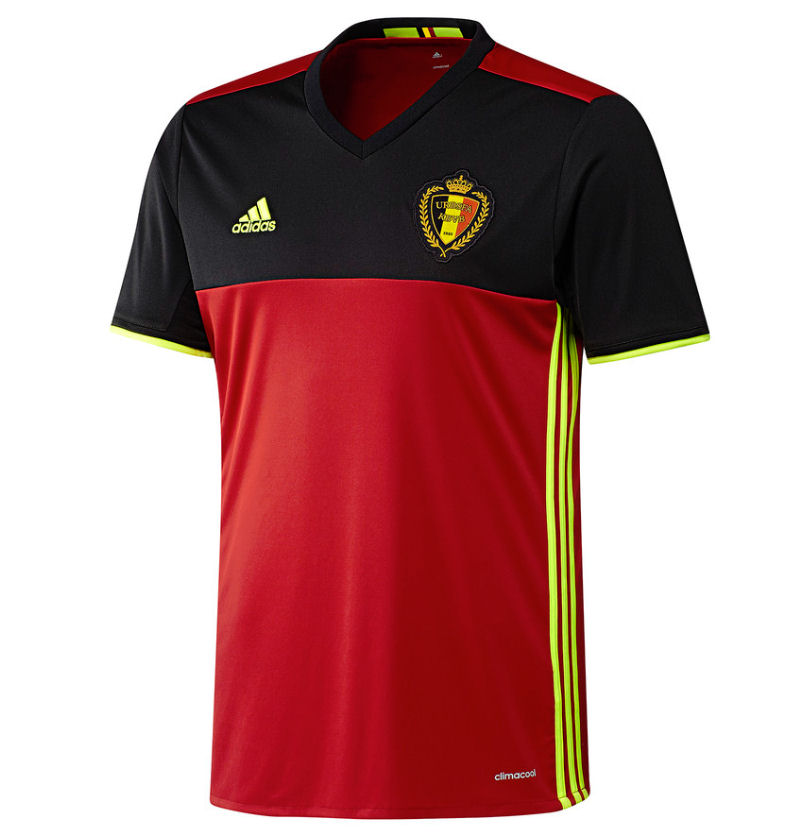 a591ea206 2016-2017 Belgium Home Adidas Football Shirt (Kids)  AA8743  - Uksoccershop