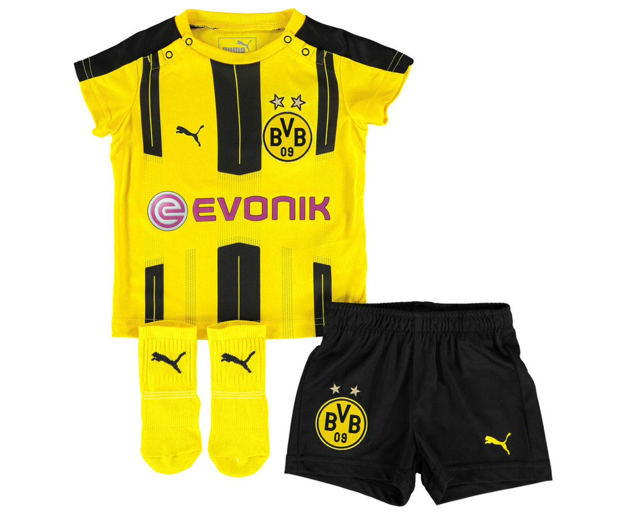 cheap for discount 64768 3b043 2016-2017 Borussia Dortmund Home Baby Kit