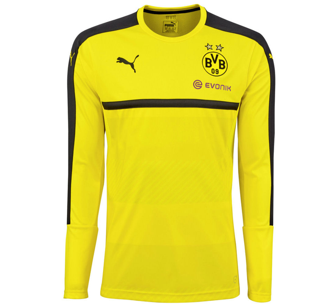 low priced 036ec 97a46 2016-2017 Borussia Dortmund Puma Long Sleeve Training Shirt (Yellow)