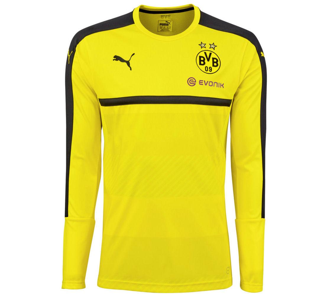 low priced f514f e7cc4 2016-2017 Borussia Dortmund Puma Long Sleeve Training Shirt (Yellow)
