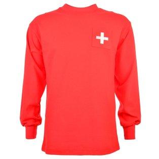 Switzerland 1960 Retro Football Shirt