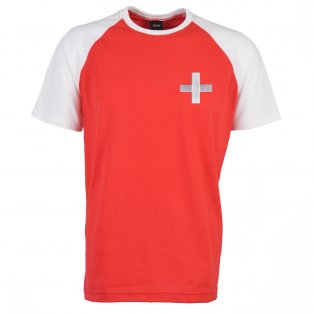 Switzerland 2018 Raglan Retro Football Shirt